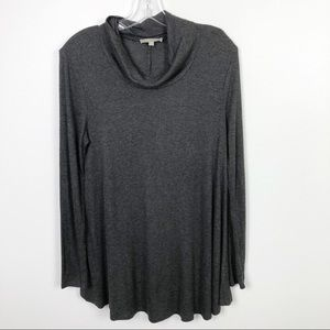 Joan Vass Knit Turtleneck Pullover Charcoal Grey
